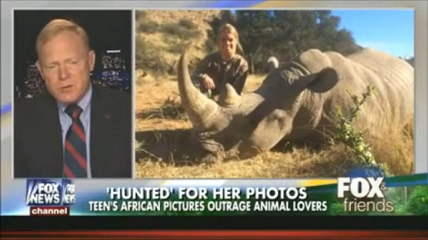 "This man is actually saying, at the exact moment this picture is displayed, that hunting ""places value on the animals."""