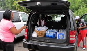 Toledo residents stock up on bottled water, which, incidentally, is also extremely bad for the environment.