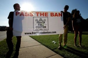 Activists scored a major victory over the oil and gas industry in Denton. Photo by Tony Guiterrez, taken from the Houston Chronicle.