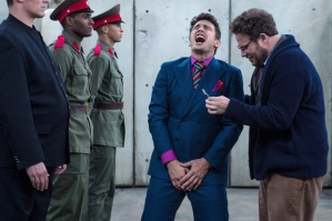 "James Franco and Seth Rogen on the set of ""The Interview."""