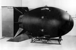 Fat Man, the bomb dropped by the U.S. on Nagasaki at the end of World War II, killed tens of thousands of Japanese. The bombings of Hiroshima and Nagasaki remain the only instances of nuclear weapons being used in war.