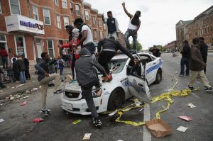 Images like this, of protesters celebrating atop a smashed police cruiser, terrify white people and give the news ratings. But such destruction of property is paltry in comparison to violence the state visits on citizens.