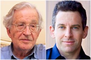 Left: Noam Chomsky, right: Sam Harris.