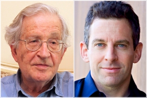 Left: Noam Chomsky, right: Sam Harris.