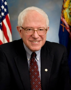 Independent Vermont Senator Bernie Sanders in his congressional portrait.