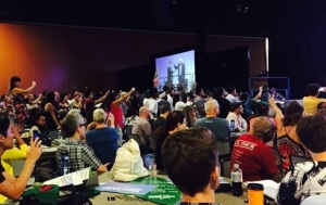 Activists take over Bernie Sanders's portion of the Netroots Nation convention.