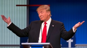In the eyes of his fans, this Trump gesture can turn any idiotic statement into a fearless declaration of a hard truth.