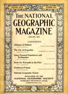 A 100-year-old National Geographic from January 1915.