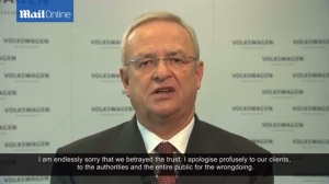 Volkswagen CEO Martin Winterkorn issues an apology for his cars' gross emissions violations.