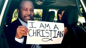 This image of presidential candidate Ben Carson has sparked a hashtag movement, but the FBI's hate crime statistics show it's hardly a bold or courageous stand.