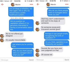 Romance blossoms on Tinder as Shkreli blames America's hatred of him on his youth and irreverence.