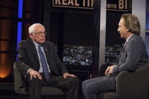 Democratic presidential candidate Bernie Sanders sits down with the host of Real Time, Bill Maher.