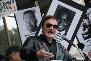 Tarantino's short speech at a Black Lives Matter rally invited strong criticism from police unions. --- Image by © M. Stan Reaves/Demotix/Corbis