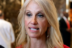 Campaign manager Kellyanne Conway for U.S. Republican presidential nominee Donald Trump speaks to the media at Trump Tower in the Manhattan borough of New York